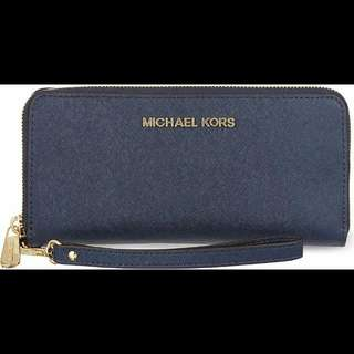 REPRICE MURAH BANGET & AUTHENTIC Last Stock Michael Kors Jetset Wallet Navy