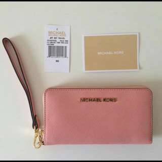 REPRICE MURAH BANGET & AUTHENTIC Last Stock Michael Kors Jetset Wallet Pale Pink