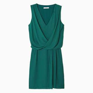 MANGO Draped Wrap Dress