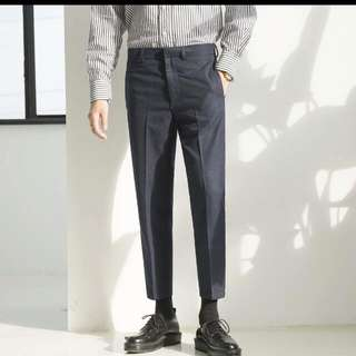 韓版修身九分西裝褲可議