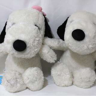 Snoopy couple stuffed toy SET