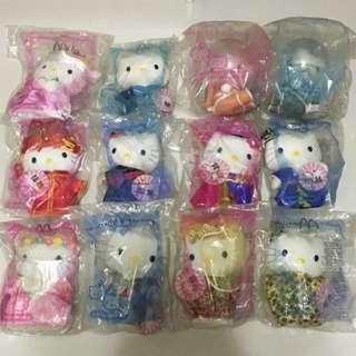 Year 2000 Millennium McDonald Hello Kitty Wedding Plushies