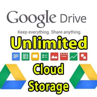 UNLIMITED Google Drive Cloud Storage (Lifetime Account)
