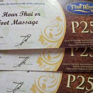 Thai Royale Gift Card Worth 750