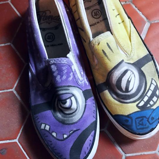 小小兵塗鴉鞋