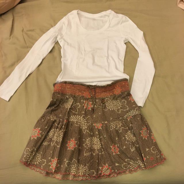 海灘圖騰風短裙