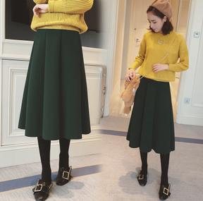 韓版 秋冬 咖啡色半身裙