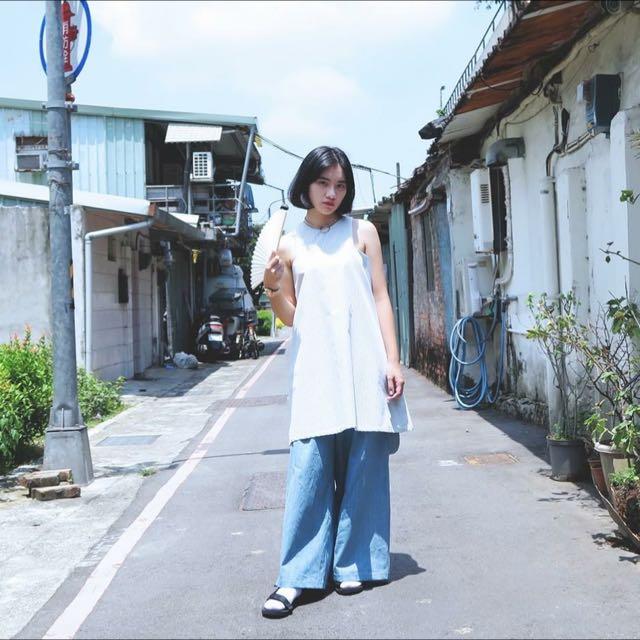 清新 直紋洋裝 藍白線條 台灣設計師 / Alan Hu 2016 A/W Collection