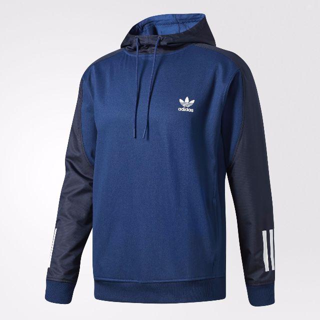 Adidas 帽T 藍