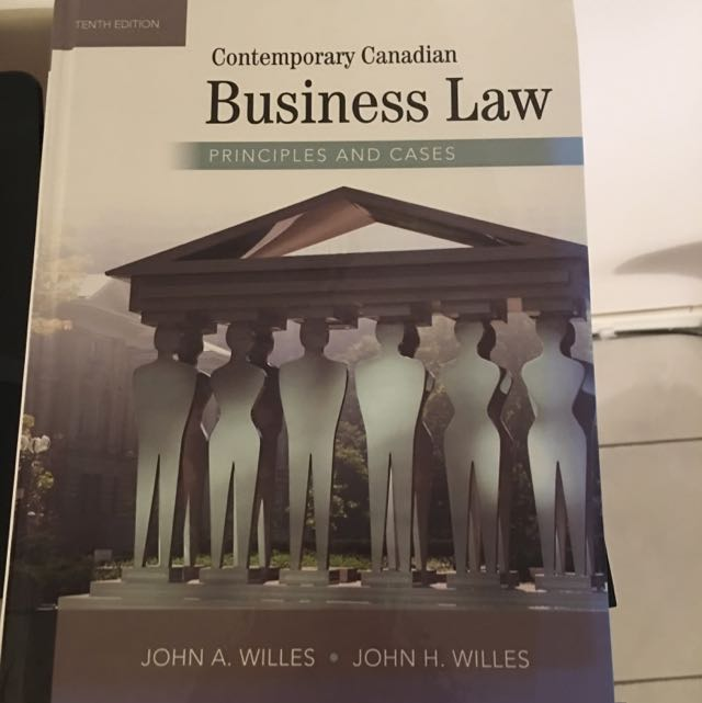 ADMS 2610 Contemporary Canadian Business Law
