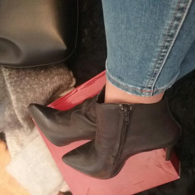 Aldo Black Boots (Genuine Leather)