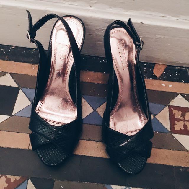 AUS Size 6 Faux Croc Leather Heels