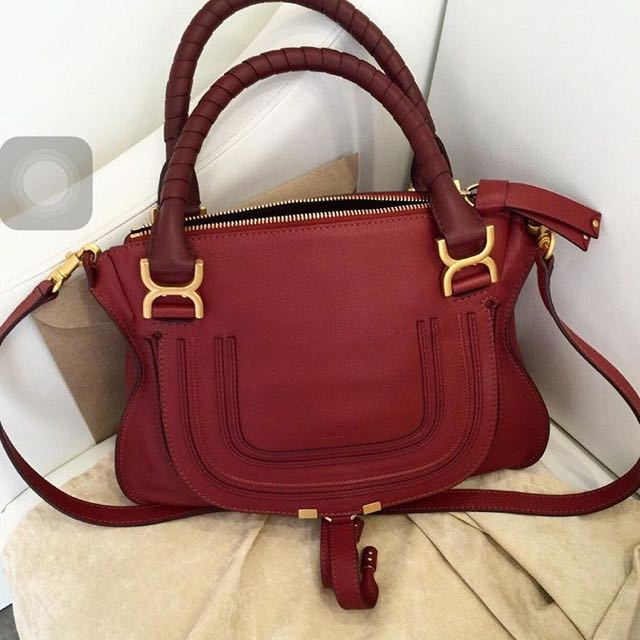 Authentic Chloe Marcie Medium In Berry