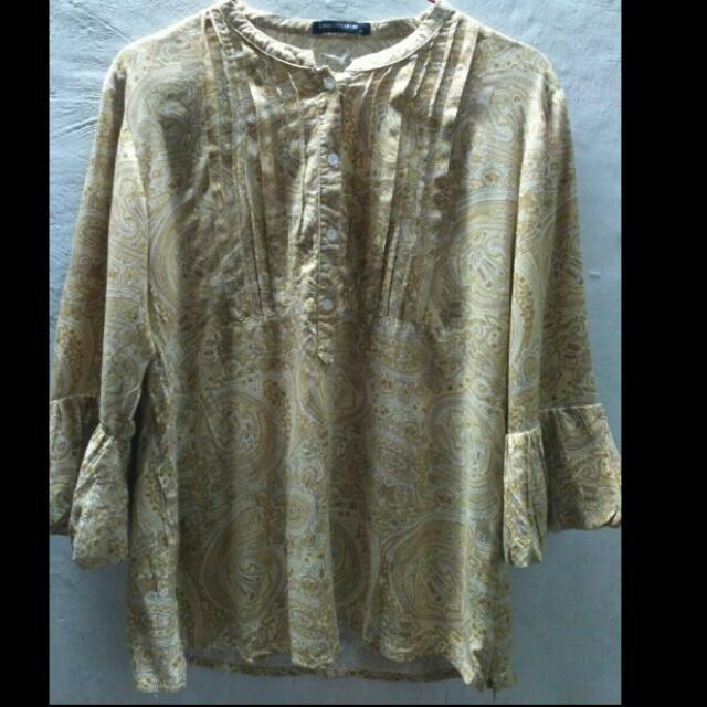 Baju atasan Motif Batik (Kuning)