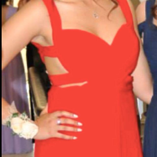 Beautiful Open Back Red Dress