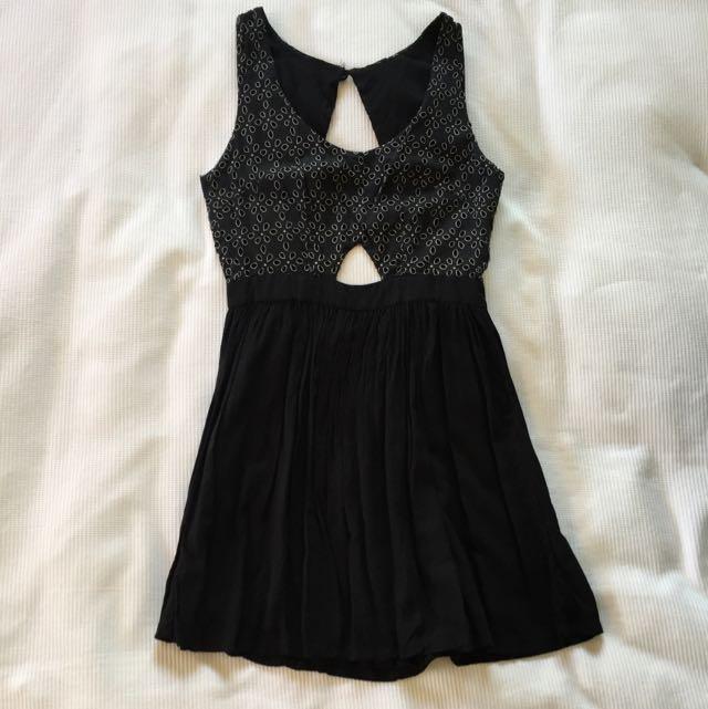 Black Backless A-line Dress Size XS