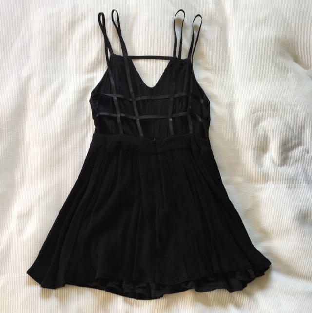 Black Strappy Back Dress Size 10