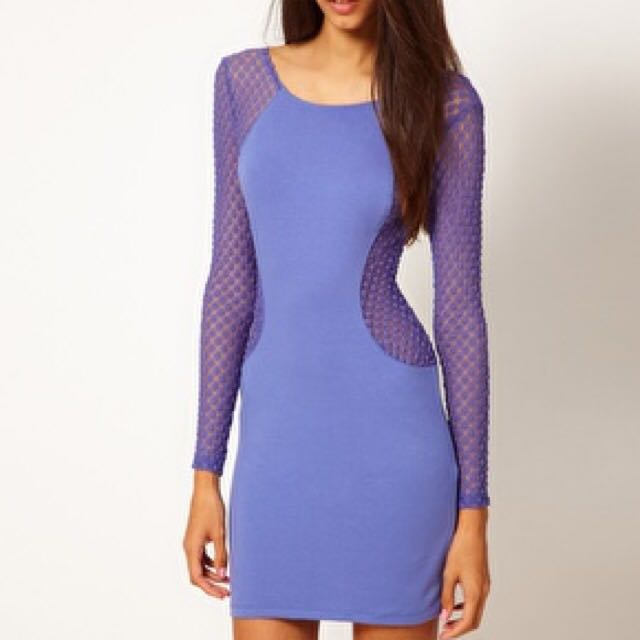 Blue Dress Motel Rocks Mesh Long Sleeve