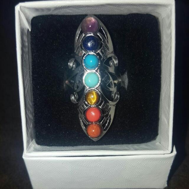 Brand New Adjustable size Chakra Ring.