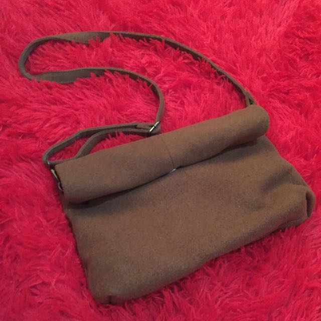 Brown Vintage Clutch