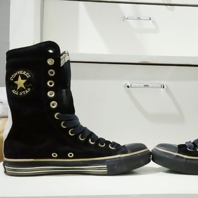 Converse Black & Gold Hi-Cut