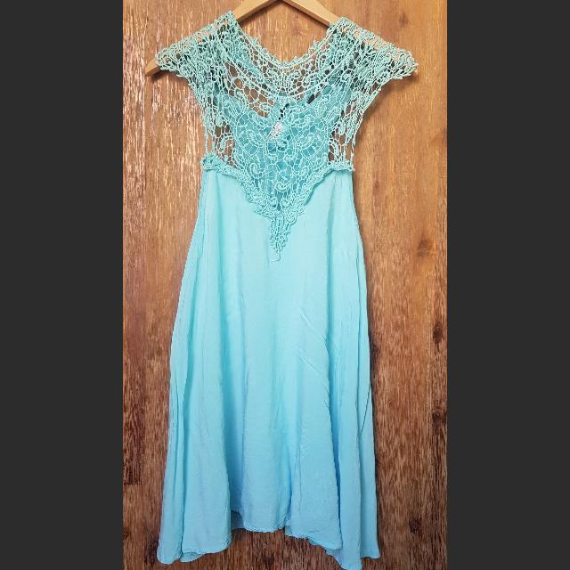 Crochet Top Swing Dress