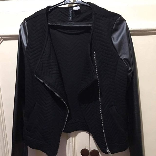 Divided Leather Jacket