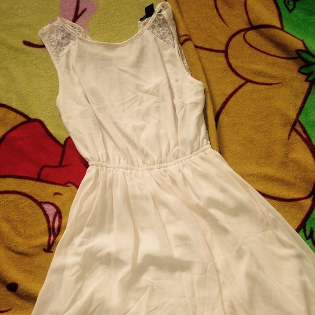 F21 Off White Cute Dress