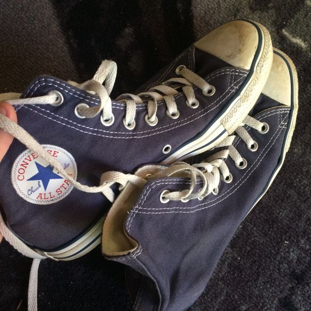 Faded Blue Converse Sneakers