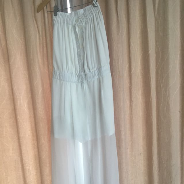 Flare Pant Jumpsuit White