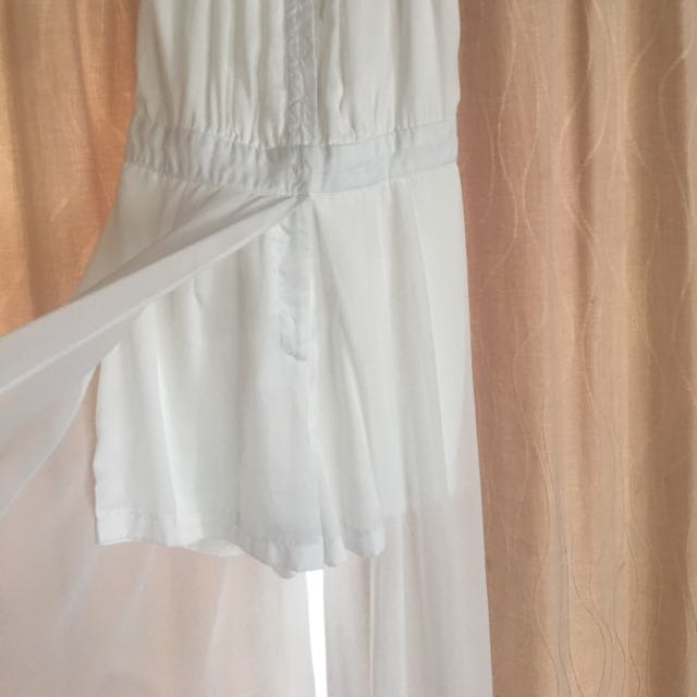 Flare Pant Jumpsuit White