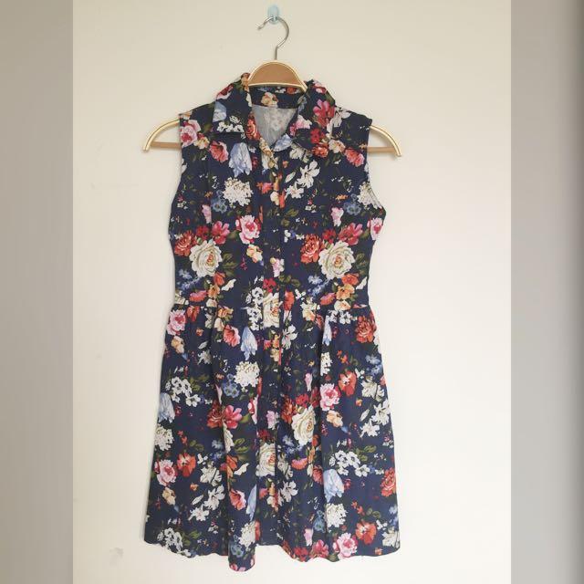 Floral Jeans Dress