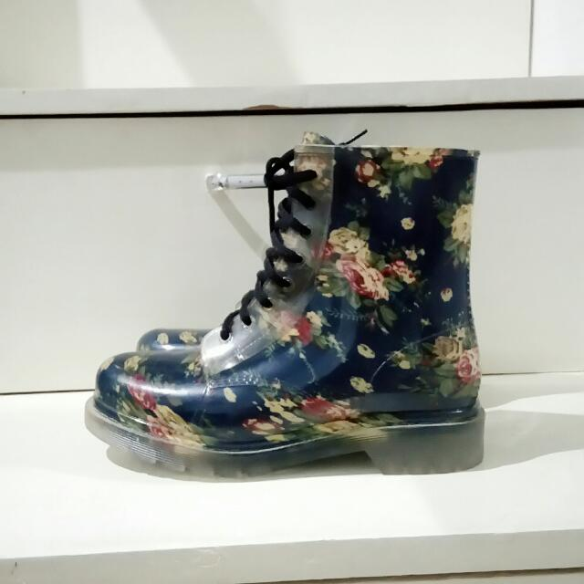 Floral Waterproof Boots