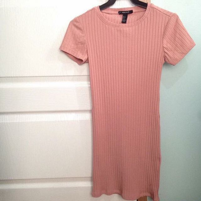 ON SALE! Forever21 Pink Ribbed Dress
