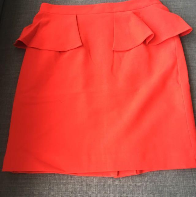 Forever 21 Peplum Effect Skirt