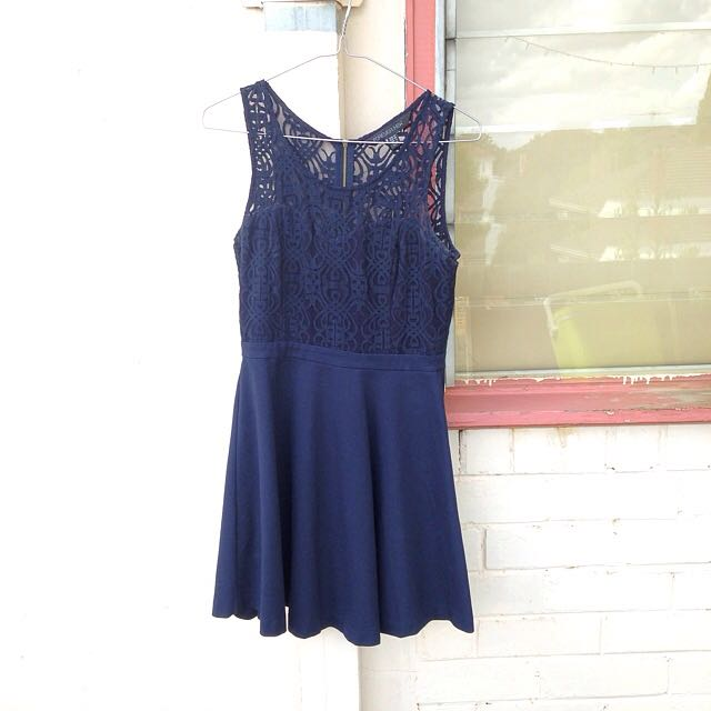 Forever New Navy Formal Dress