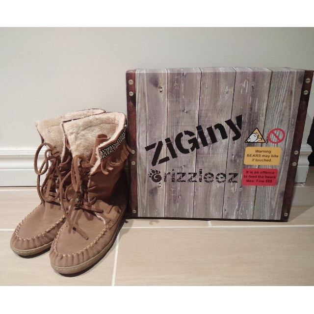 Grizzleez By Zigi Chestnut Brown Moccasin Boot-Size 7.5