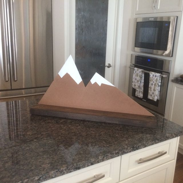Handmade Mountain Range Shelf