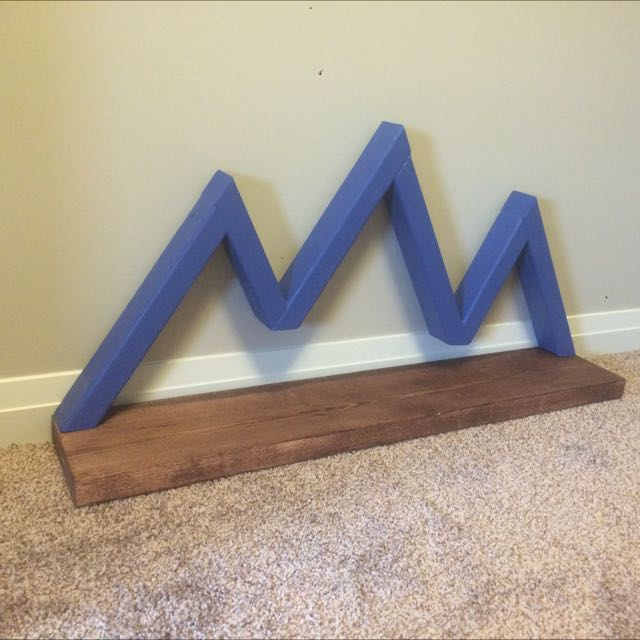 Handmade Mountain Shelf