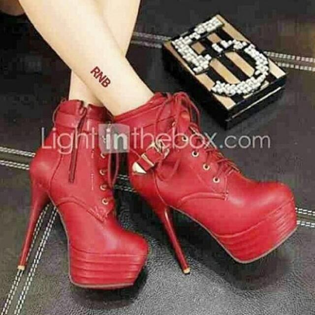 High Heels Merah Premium 15cm