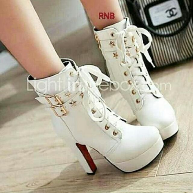 High Heels White Premium 12cm