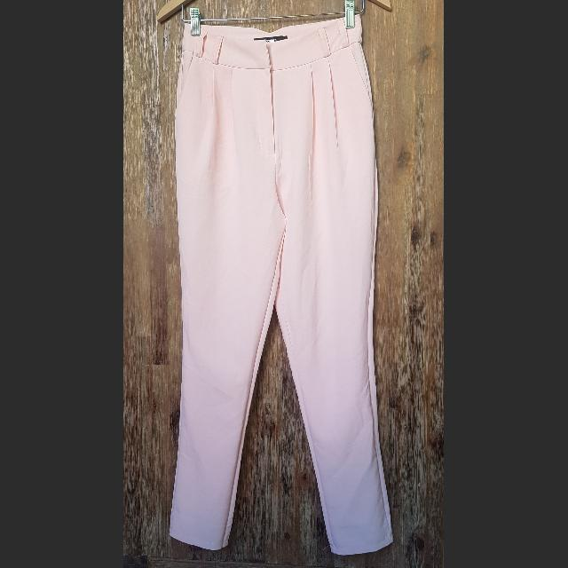 High Waist Pink Slacks/Trousers Size 8