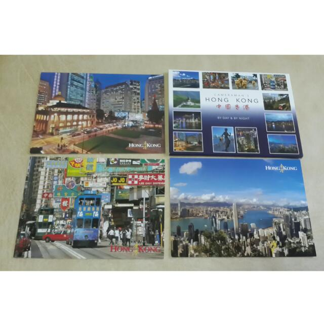 Hongkong By Day & By Night Postcard Set / Kartu Pos Pemandangan Kota