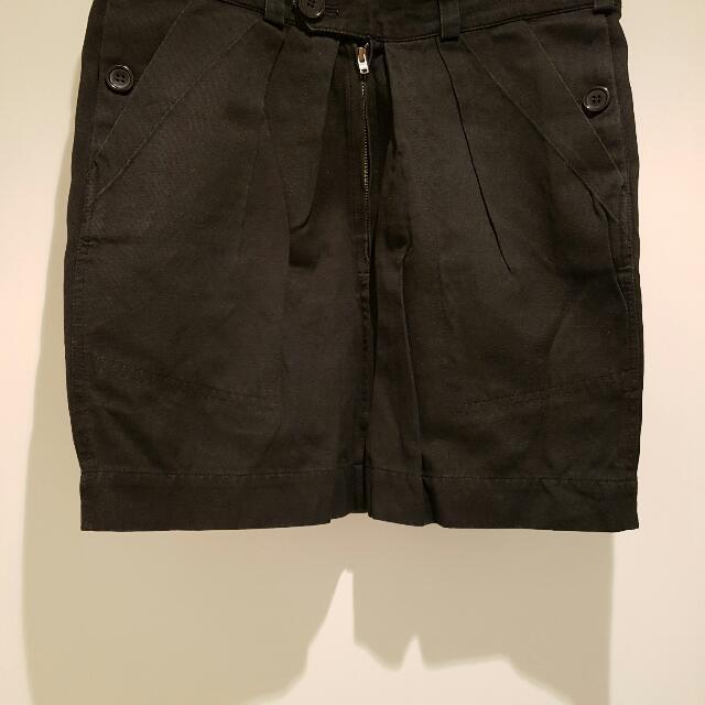 Isabel Marant Black Short Skirt Size 1 Cotton Linen