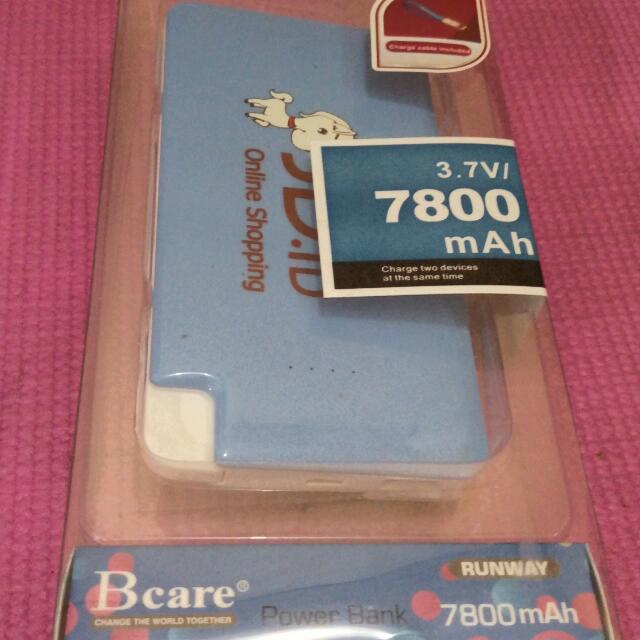 JUAL RUGI BIAR CEPET AJAH! Bcare Power Bank 7800 Mah-Baru Masih Segel