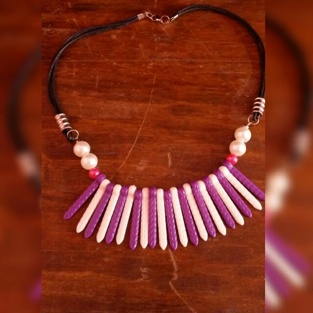Kalung Marble Purple