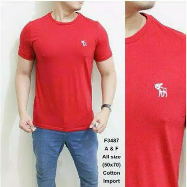 Kaos Merah Pria Polos Terlaris