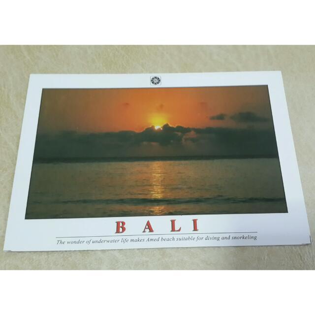 Kartu Pos Bali / Sunset Postcard