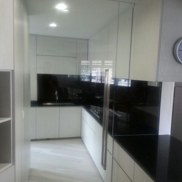 Kitchen Glass Door And Spray Paint Tempered Glass Backing Home