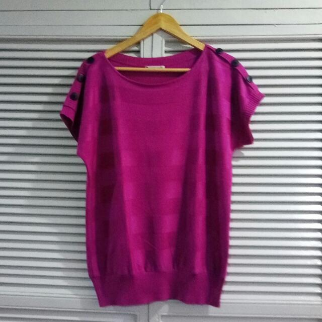 Knits Collection Pink Top Knitted
